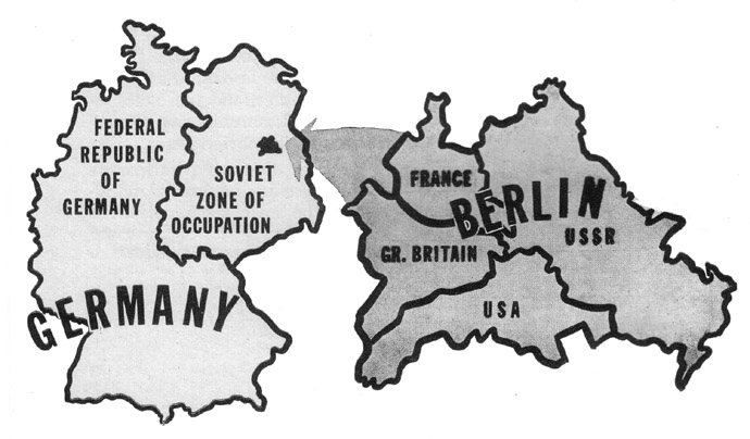 Berlin in Early Cold War Army Booklets on map of europe cold war, nato cold war, berlin wall map cold war, map of berlin world war 2, map of warsaw pact cold war,