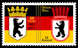 50th Anniversary Construction of the Berlin Wall Stamp 2